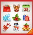 Christmas icon set-3 vector image