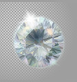 crystal diamond brilliant gem jewelry precious vector image