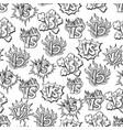 hand drawn versus seamless pattern vector image