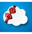Paper white cloud note vector image