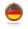 round medallion with the german flag inside vector image