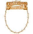 Snakebite ranch frame vector image