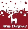 design Merry Christmas card with deer vector image