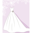 Wedding background with dress vector image