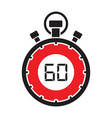sixty minute stop watch countdown vector image vector image