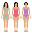 beautiful asian women vector image