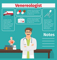 Venereologist and medical equipment icons vector image