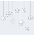 Snowflakes on a White Background vector image