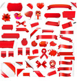 Big Set Red Elements vector image vector image