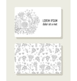 Card with hand drawn floral elements and photo vector image