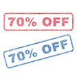 70 percent off textile stamps vector image