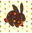 Easter Bunny eggs background vector image
