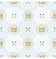Seamless background with royal crown and arrows vector image vector image