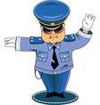 traffic cop vector image vector image