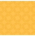 Seamless hand drawing pattern on orange vector image