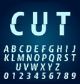 alphabet font template letters and numbers vector image