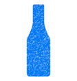 beer bottle grunge icon vector image