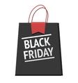 Black Friday bag modern design badge sales vector image