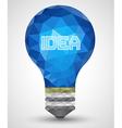 Bulb abstract idea vector image