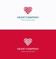 Heart Company logo vector image