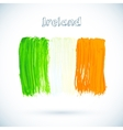 Painted Irish flag vector image