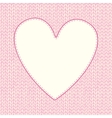 Seamless knitted pattern with heart shaped frame vector image