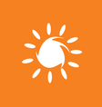 sun in white color vector image