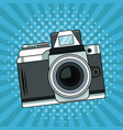 vintage camera pop art cartoon vector image