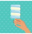Woman hold ice cream vector image