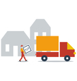 Delivery service company truck transportation vector image
