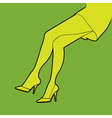 Sexy legs poster vector image