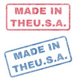 made in theusa textile stamps vector image