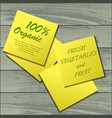 yellow stickers on table vector image