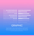 graphic diagrams with text on light background vector image