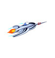 Rocket Ship Flying vector image vector image