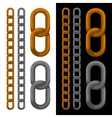 Seamless golden and silver chain vector image