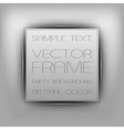 business frame gray with text vector image