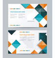 Brochure or banners or business card design vector image