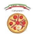 Beautiful of Italian pizza Carbonara vector image
