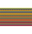 Stripes seamless pattern of egypt elements vector image