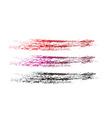 grunge brushes line vector image
