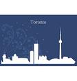 Toronto city skyline on blue background vector image