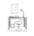 Hand drawn workplace vector image