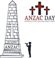 Anzac day Greeting card vector image
