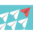 Paper planes leadership concept vector image
