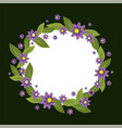 circle frame made of flowers spring and vector image