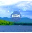 Festival summer realistic badge EPS10 vector image