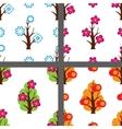 four season pattern set vector image
