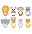 set animals vector image