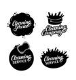 Set of hand written lettering Cleaning Service vector image